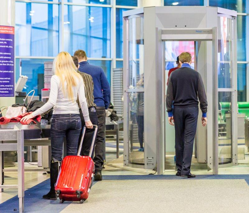 Airport metal detector